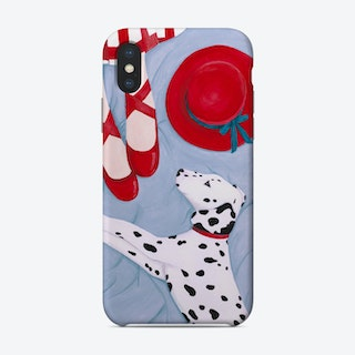 Dalmatian With Red Hat Phone Case
