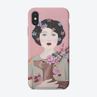 Woman And Deer Phone Case