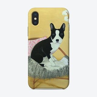 Frenchie On Rattan Chair Phone Case