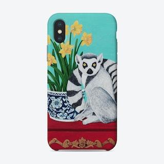 Lemur And Daffodil Phone Case