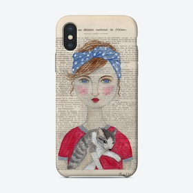 Woman In Turban With Cat Phone Case