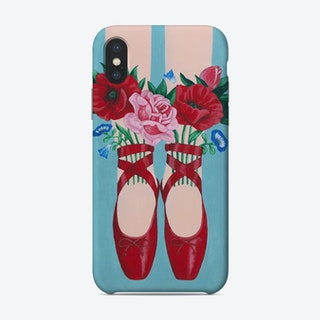 Red Shoes And Flowers Phone Case