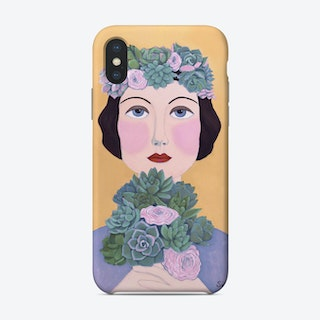 Woman And Succulents Phone Case