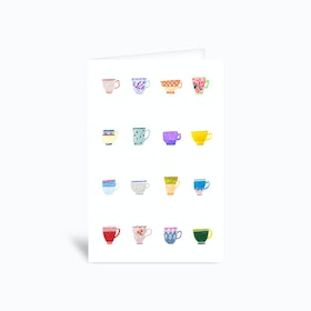 Tiny Cups Greetings Card