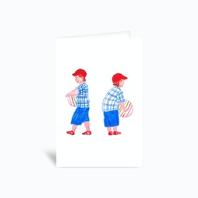A Little Boy Greetings Card