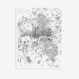 London Canvas Map Art