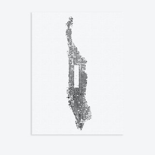 Manhattan Canvas Map Art
