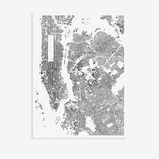 New York City Canvas Map Art
