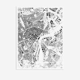 Amsterdam Canvas Map Art