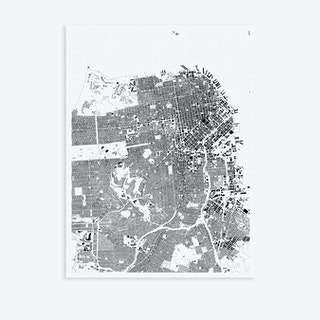 San Fransisco Canvas Map Art