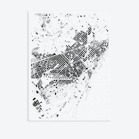 Barcelona Canvas Map Art