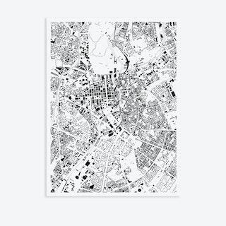 Berlin Canvas Map Art