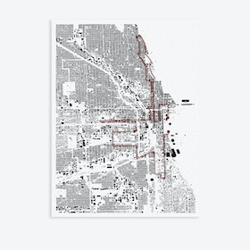 Chicago Marathon Canvas Map Art