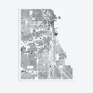 Chicago Canvas Map Art