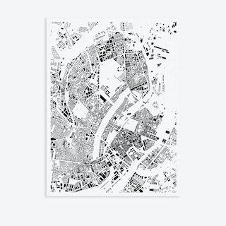 Copenhagen Canvas Map Art