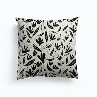 Black Bloom Cushion