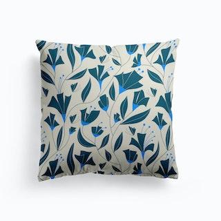 Blue Bloom Cushion