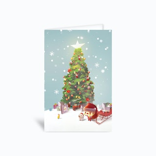 Christmas Tree Greetings Card