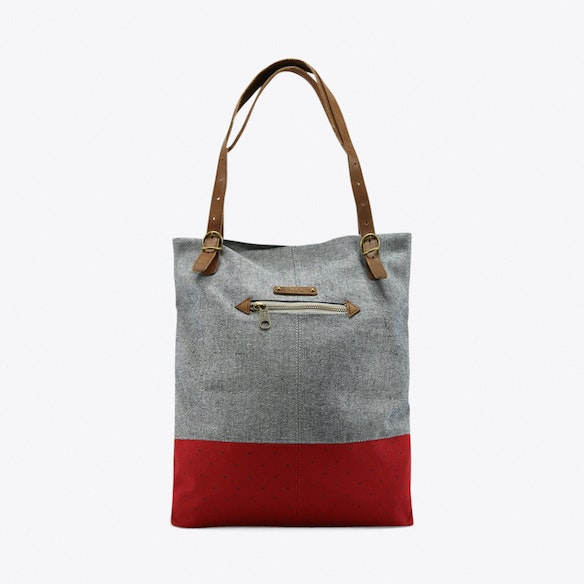 55c3d55a0824 Berenice Tote in Grey   Red by G.ride - Fy