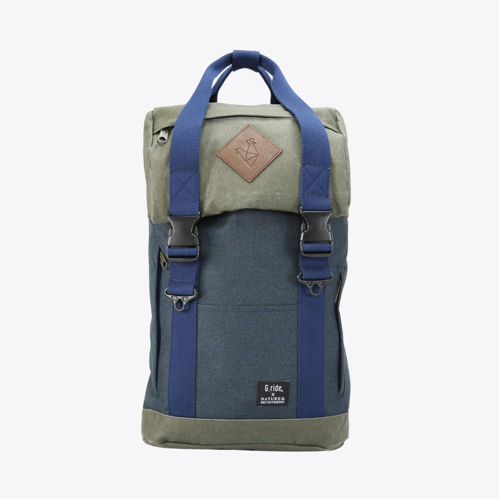 Arthur XS Backpack in Navy and Olive