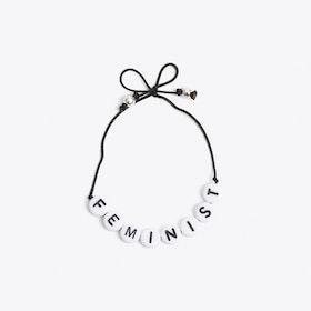 Feminist Bracelet in Black