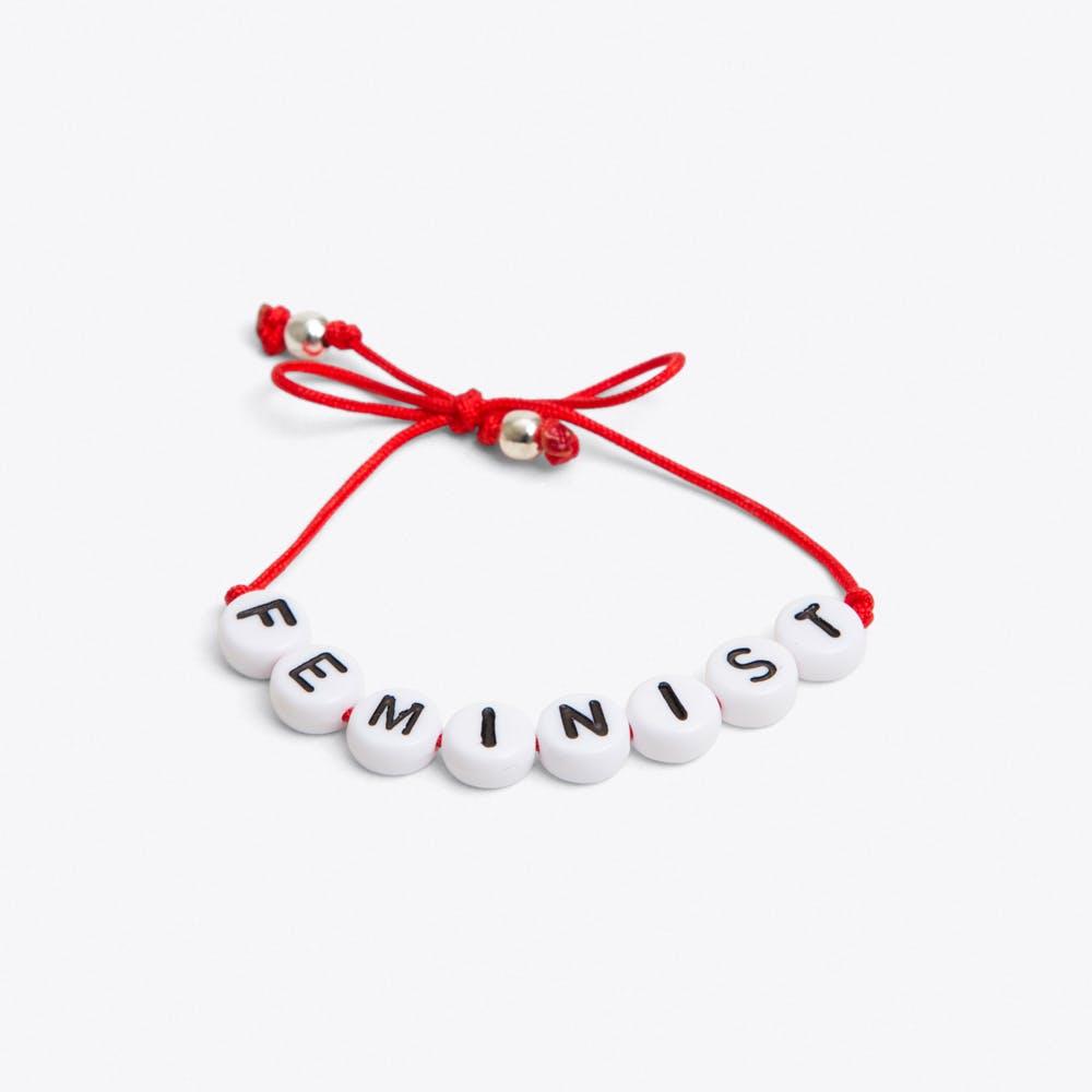 Feminist Bracelet in Red