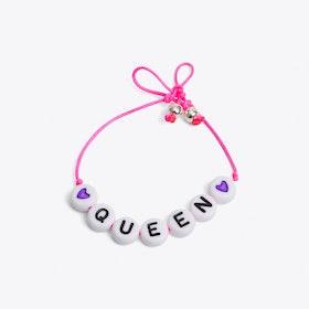 Queen Bracelet in Neon Pink