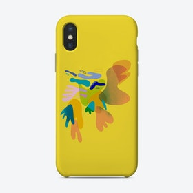 Abstract Yellow Phone Case