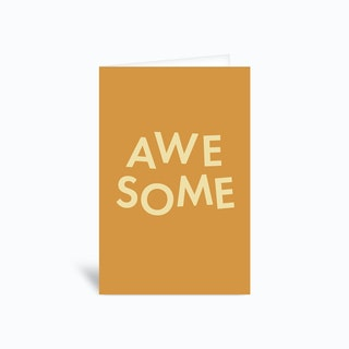 Awesome Greetings Card
