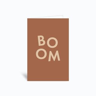 Boom Greetings Card