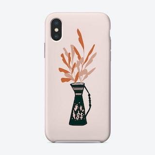 Vase And Leaves Phone Case