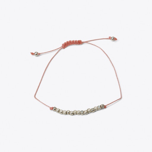 Cube Friendship Bracelet in Pastel Pink