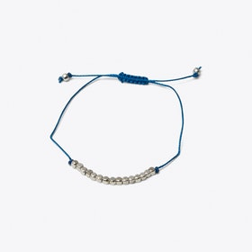 Cube Friendship Bracelet in Blue Lagoon