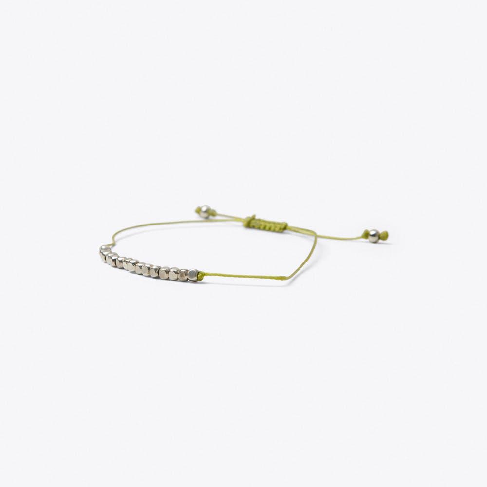 Cube Friendship Bracelet in Chartreuse