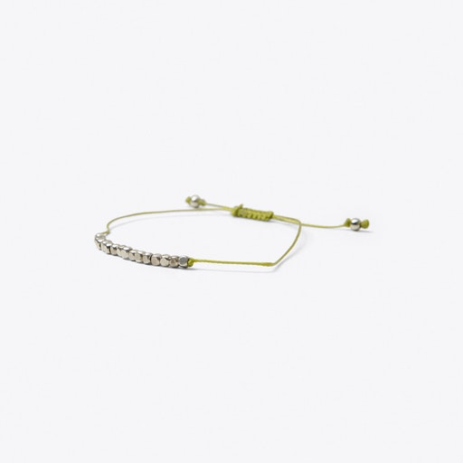 Cube Friendship Bracelet in Chartreuse