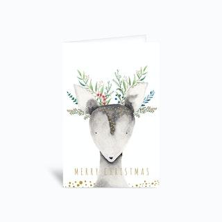 Holidays Deer 4x6 Greetings Card