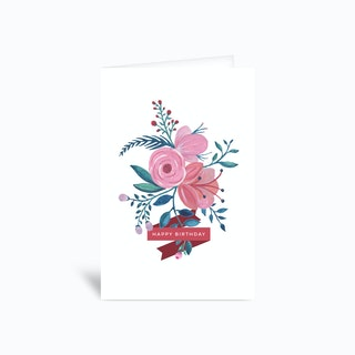 Happy birthday Flower 4x6 Greetings Card