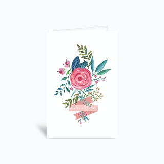 Happy Birthday Rose 4x6 Greetings Card