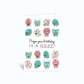 Owl Birthday Card 4x6 Greetings Card