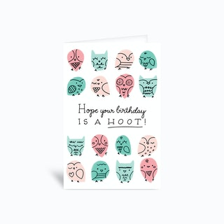 Owl Birthday Card 4x6 Greetings Card