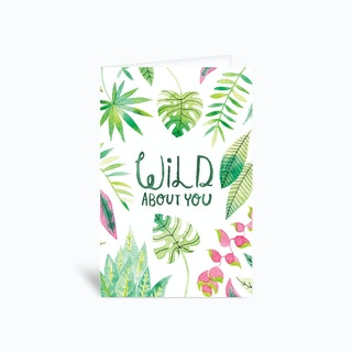 Wild About You Card 4x6 Greetings Card