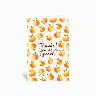Thanks Youre A Peach Card 4x6 Greetings Card