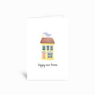 Happy New Home House Card 4x6 Greetings Card