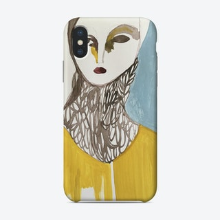 Portrait With Blue Shadow Phone Case