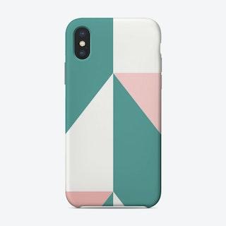 Anglesintealgreenandpink Phone Case