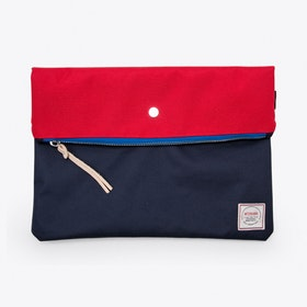 Krill Clutch in Red and Navy