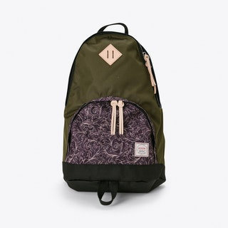 Brooksiinae Backpack in Navy and Olive Paisley