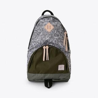 Brooksiinae Backpack in Grey Paisley