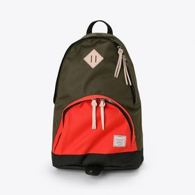 Brooksiinae Backpack in Olive and Tan