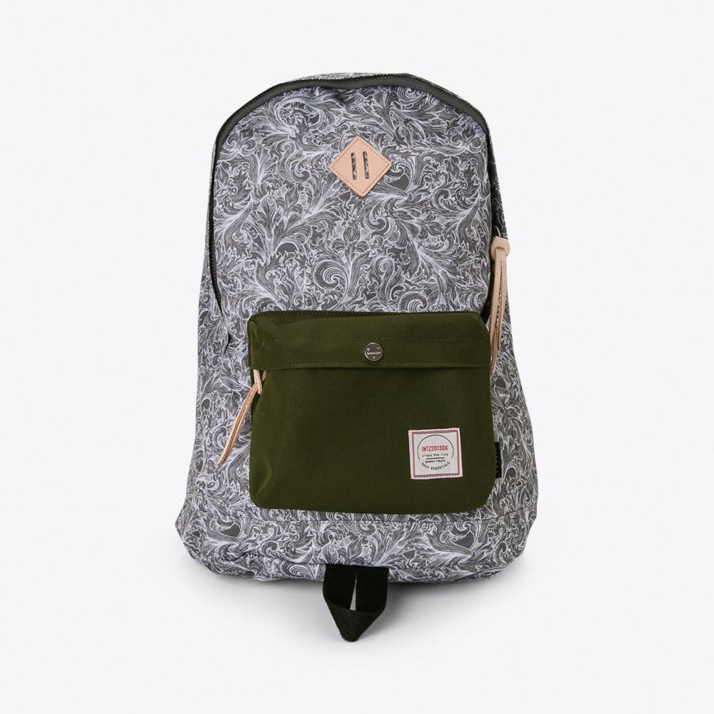 Chameleon Backpack in Grey Paisley